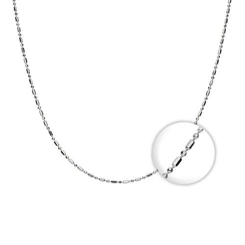 ca5463f9e5a8 Cadenas de plata. Cadena cilindros y esferas